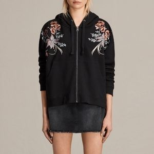 Allsaints┆margot embroidered hoody
